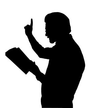 Preacher Teaching from Bible