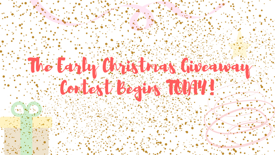 Early Christmas Giveaway Contest Begins Today