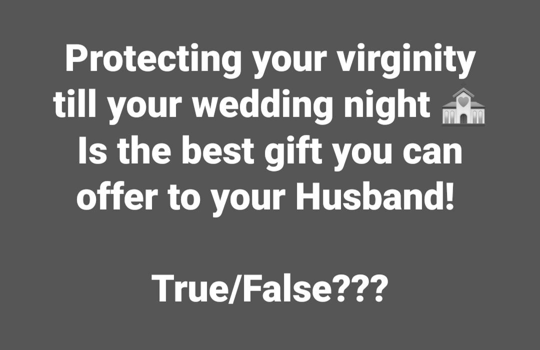 Importance of virginity